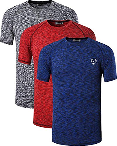 Black shirt packa Dry Sleeves Red Jeansian Sport 3 Quick Homme Tee Short Packs Lsl205 T Lsl182 Darkblue Compression Slim Sportswear xxgTfqS