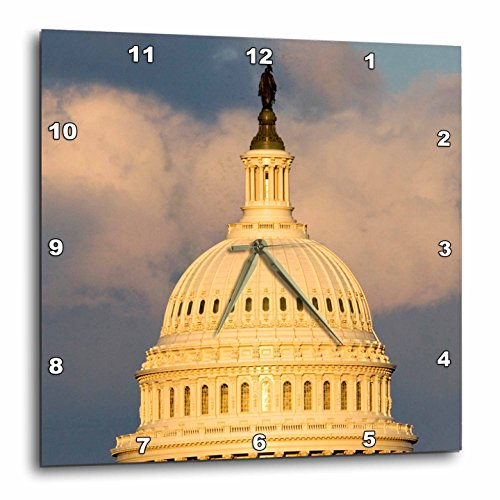 3dRose dpp_88988_1 Dome of The U.S. Capitol Building, Washington DC - US09 DFR0071 - David R. Frazier - Wall Clock, 10 by 10-Inch