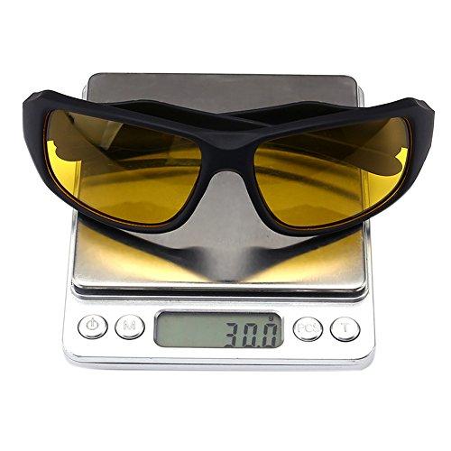 de yellow Lunettes Yiwa frame lenses Black soleil Homme 5Tzznq7