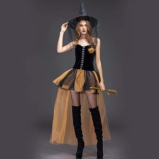 Yunfeng Halloween Bruja Disfraz para Mujer Terror la Bruja Co ...