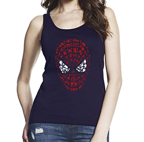 spider-man+tank+tops Products : Inspired by Spider Man, Women Black/Navy Blue 100% Softstyle Cotton Tank Top S-2XL, d631