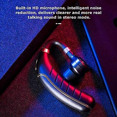 Docooler FC1 Business BT 5.0 Auriculares inal/ámbricos Gancho para la Oreja Auriculares Cancelaci/ón de Ruido Manos Libres con micr/ófono Transmisi/ón de Voz
