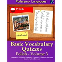 Parleremo Languages Basic Vocabulary Quizzes Polish - Volume 3