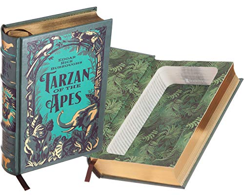 (Handmade Book Safe - Tarzan of the Apes by Edgar Rice Burroughs (Leather-bound) (Magnetic Closure))