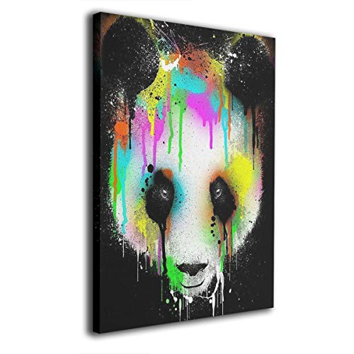 Baerg Painting Panda Frameless Decorative Painting Wall Art for Home and Office Decorations