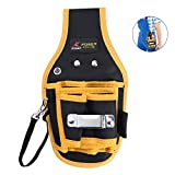 TOOLTOO Maintenance and Electrician's Waist Tool Bag Portable Hardware Waist Pouch Hand Tool Bag for Mechanic and Electricians, Black