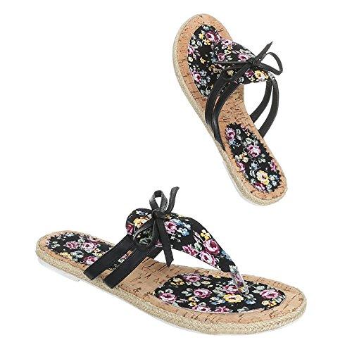Ital-Design - Sandalias de vestir de Material Sintético para mujer Varios Colores - Schwarz Multi