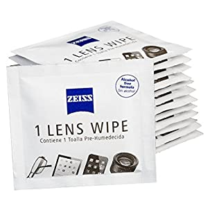 Zeiss Alcohol-free Pre-moistened Lens Cleaning Wipes – Safe and Streak Free Cleaning of Eyeglasses and Sunglasses - 60 Count
