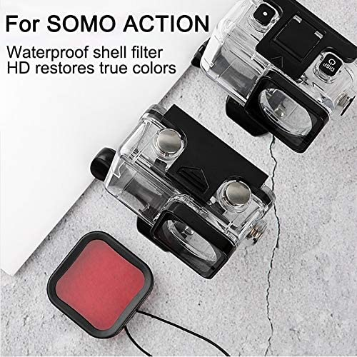 Color : Purple Housing Diving Color Lens Filter for DJI Osmo Action Durable