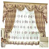 """Queen's House Curtains for Bedroom Drapes Set 110""""×108""""-A"""