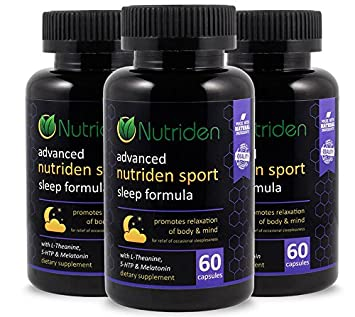 Nutriden Natural Sleep Aid Formula with Magnesium Melatonin and 5-HTP - Non-Habit Forming -...