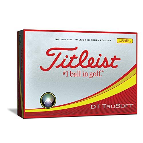 Titleist DT TruSoft Golf Balls, Yellow  (One Dozen) (Best Ladies Golf Balls For Distance)