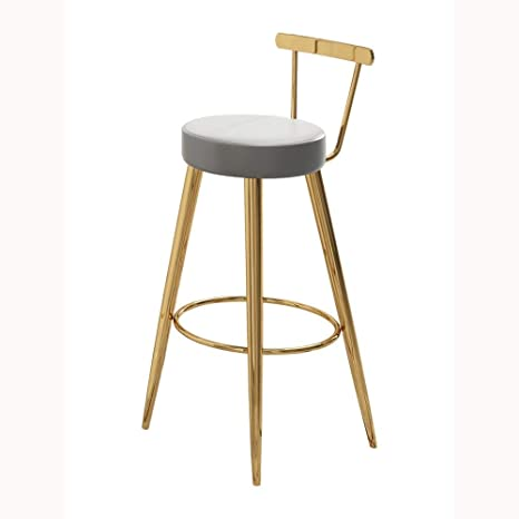 Admirable Amazon Com Creative Bar Stool Bar Chair Household Stainless Caraccident5 Cool Chair Designs And Ideas Caraccident5Info