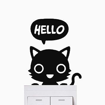... engomadas de la pared Adhesivos de 5 piezas de pared Stiker pegatinas de dibujos animados lindo de los gatos negros Vinilos decorativos: Amazon.es: Bebé
