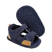 Sunward Summer Infant Baby Boy Shoes Nonskid Sandals Soft Cloth Sole (12(6~12 Month), Blue)
