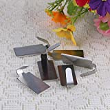 My Home Product 6 pcs Adhesive Kitchen Wall Door Stainless Steel Stick Holder Hook Hanger Oval/Square for Choose