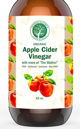 USDA Organic Raw Apple Cider Vinegar, Unfiltered, Undiluted - Organic Apple Cider Vinegar