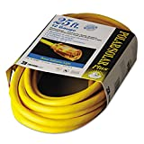 CCI 01687 Polar/Solar Indoor-Outdoor Extension Cord With Lighted End 25ft Yellow