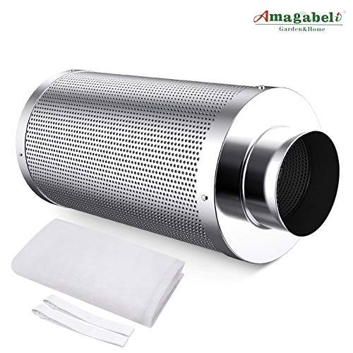 Amagabeli 4 inch Carbon Filter Odor Control for Hydroponics Indoor Plants Grow Tent 4 in Air Filters with Australia Activated Virgin Charcoal 4