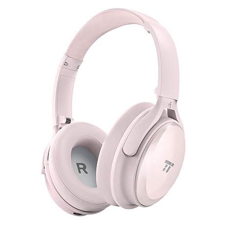 TaoTronics Auriculares Bluetooth Diadema Plegables (Cancelación de Ruido, 25-30 Horas, Micrófono
