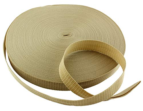 "Army Tan Polypropylene Webbing 50 Yards x 1-inch; 1"" Wide"