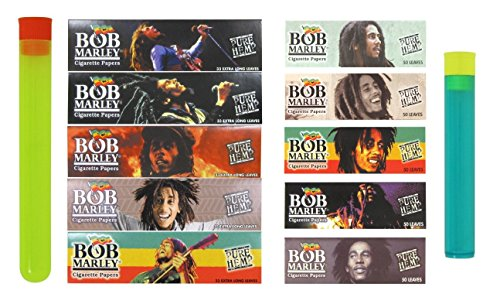 Bundle - 12 Items - Bob Marley Hemp Rolling Paper Sampler Bundle ()