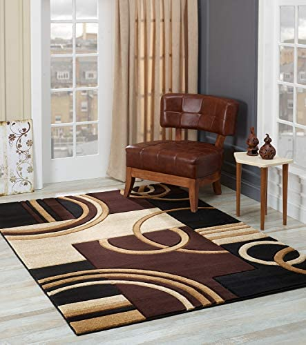 GLORY RUGS Area Rug Modern 2×7 Brown Soft Hand Carved Contemporary Floor Carpet