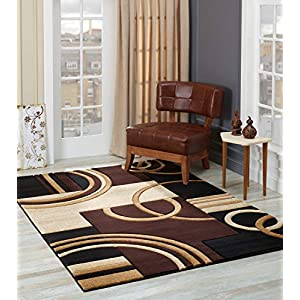 Glory Rugs Area Rug Modern Soft Hand Carved Contemporary Floor Carpet with Premium Fluffy Texture for Indoor Living Dining Room and Bedroom Area