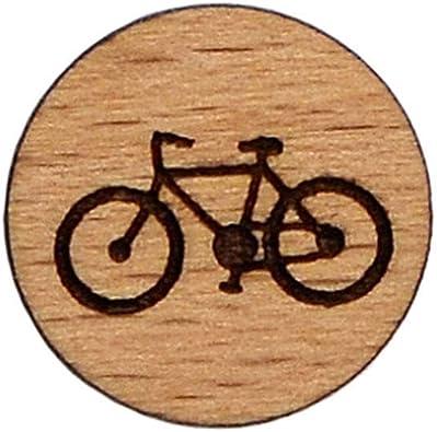 Quality Handcrafts Guaranteed Pin de Solapa de Madera para Bicicleta, Calidad Garantizada: Amazon.es: Joyería