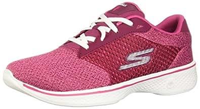 Skechers 14146X Tenis de Deporte para Mujer, color Frambuesa, 23.5