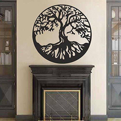 "BATTOO Tree of Life Vinyl Wall Decal Sticker - Celtic Tree Life Wall D¨¦cor Culture Symbol Office Living Room Yoga Studio Wall Decoration(32"" h x32 w,Black)"