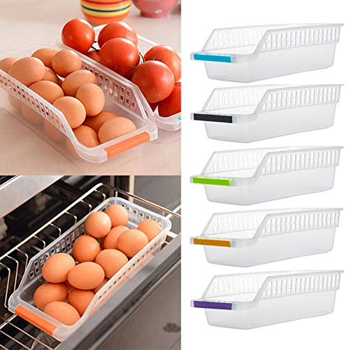 Tpingfe Kitchen Collapsible Strainers Over The Sink, Vegetable/Fruit Colander Strainer with Extendable Handles Fruit Basket for Kitchen 2PC