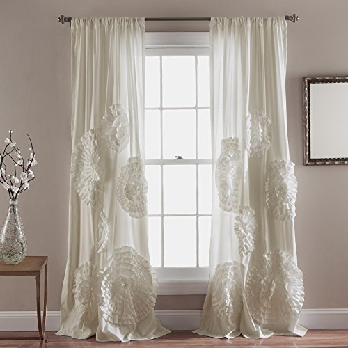 Lush Decor Serena Window Curtain Panel  84 X 54   Ivory