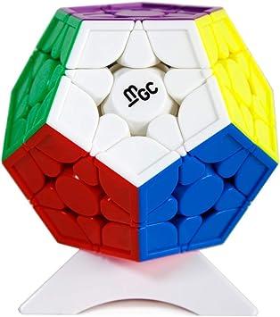 OJIN Yongjun YJ MGC 3x3 Megaminx Dodecaedro M Magic Cube Smooth Twist Puzzle Cubo Juguetes Especiales con trípode (Sin Etiqueta): Amazon.es: Juguetes y juegos
