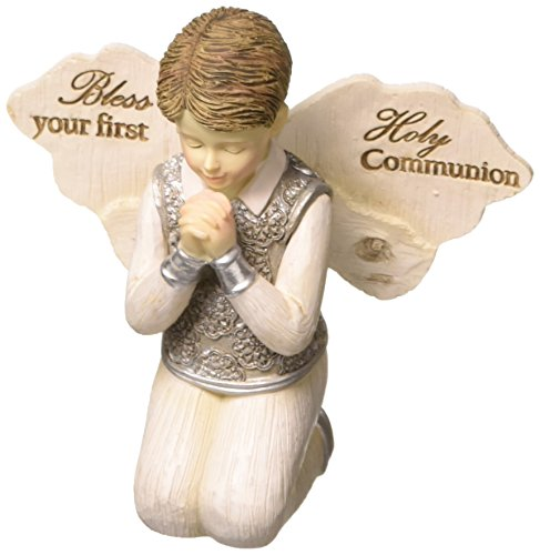 (Pavilion - Bless Your First Holy Communion - Praying Boy Angel Figurine 3.5 Inches)