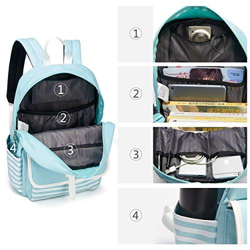 Bag Casual Handbag Cute Shoulders Lightweight Ladies Lightblue Girls Women Waterproof Rucksack Backpack Daypack Bags for qpZEE7