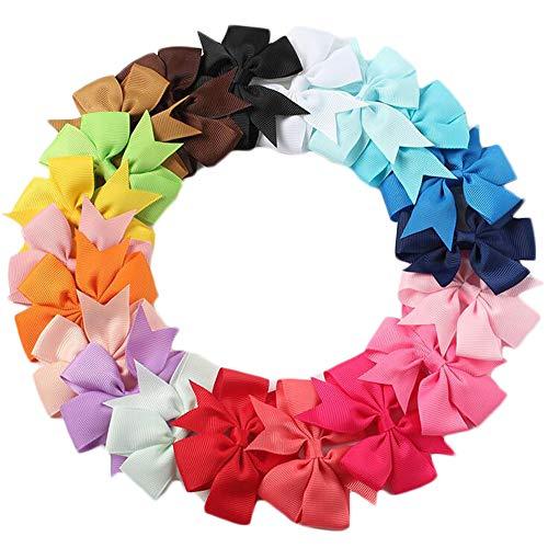 Baby Girls Big Bow Hair Clip Set Alligator Clips Printed Bows Headband for Little Girls Toddler Children