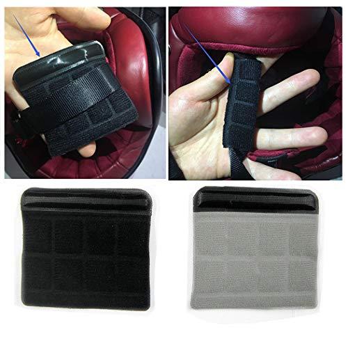 DOSEEI 2pcs Bike Helmet Chin Pad Sport Helmet Sponge Mat Chin Strap Padded Chin Guard Black+Gray