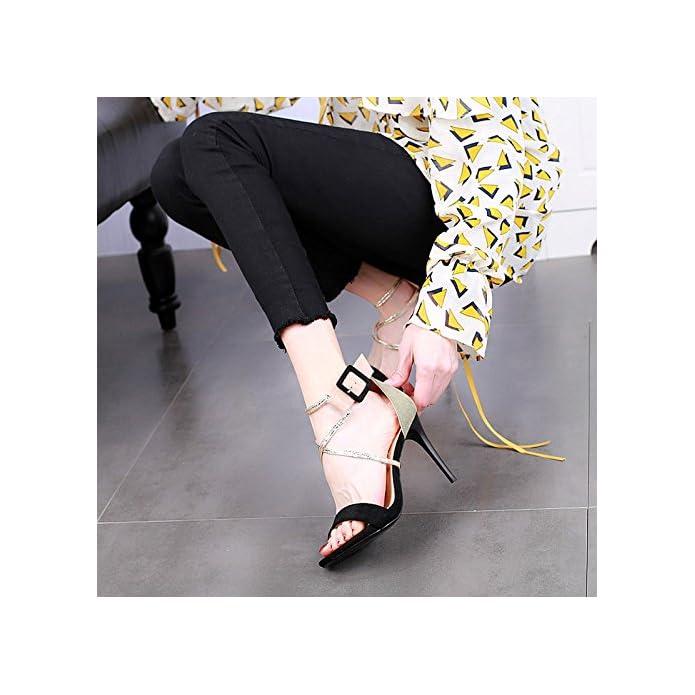 Ymfie Estate Moda Stiletto Sexy Tacco Alto Open Toe Sandali Da Donna Croce Con Tacchi Alti