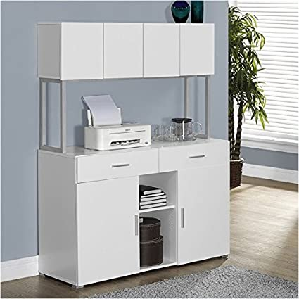 Pemberly Row 48u0026quot; Office Storage Credenza In White
