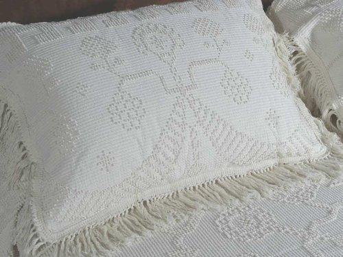 Washington Pillow (Martha Washington's Choice Pillow Sham - Standard - White - with String Fringe (Single Sham))