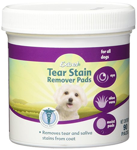 Excel 8-in-1 Tear Stain Remover Pads For Dogs, 90-Count