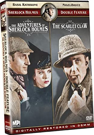 Sherlock Holmes Double Feature: The Adventures of Sherlock Holmes/The Scarlet Claw by Basil Rathbone