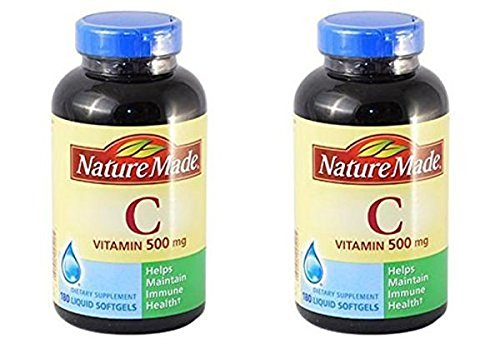 Nature Made Vitamin C 500 mg - 2 Bottles, 180 Softgels Each by Nature Made