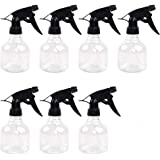 SUPERLELE 7pcs 8oz Empty Plastic Spray Bottles with Black Trigger Sprayers, Adjustable Nozzle, for Cleaning Solutions, Planting, Cooking Includes Funnel and Labels