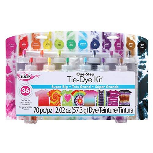 Tulip one-step tie-dye Kit: Super Big 12 Colors, Tie Dye (Renewed)