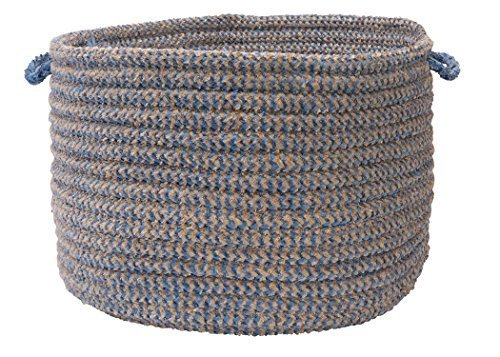 Colonial Mills Softex Check Utility Basket, 14 by 10-Inch, Blue Ice by Colonial Mills