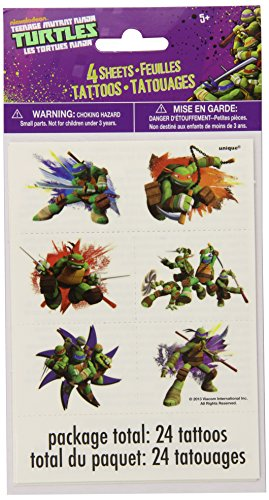 (Teenage Mutant Ninja Turtles Temporary Tattoos,)