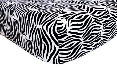 Trend Lab Black and White Zebra Crib Sheet