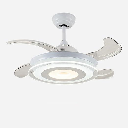 Luz del ventilador LQ Techo Invisible Salón Comedor Dormitorio Dormitorio Lámpara del Ventilador del LED Minimalista Moderno Doble Color Inteligente, 36 Pulgadas, 24W: Amazon.es: Hogar